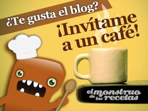Invita a un cafe al Monstruo de las Recetas